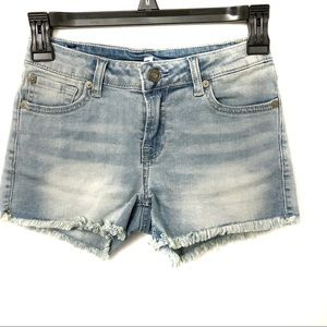 7 For All Mankind Girls Light Wash Jean Shorts